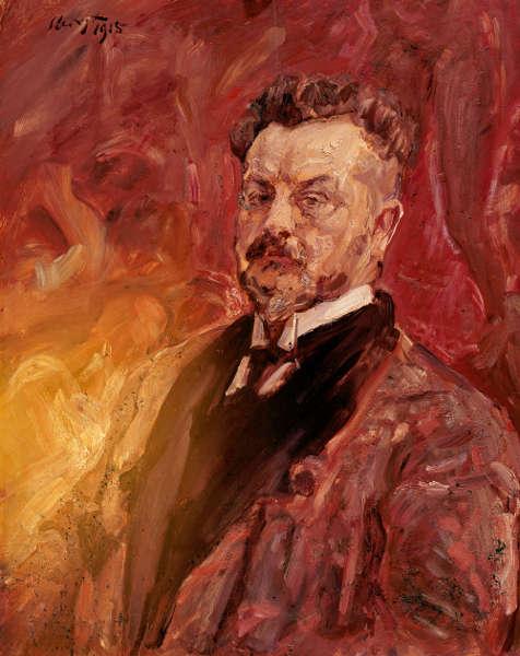 Max Slevogt, Selbstbildnis, 1915, Öl auf Holz, 80 × 64,5 cm (Museum Georg Schäfer, Schweinfurt, Foto Museum Georg Schäfer, Schweinfurt)