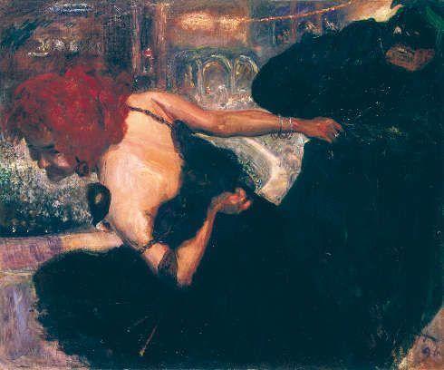 Max Slevogt, Totentanz/Maskenball, 1896, Öl auf Leinwand, 102 x 123 cm (Museum Georg Schäfer, Inv. Nr. MGS 4306 © Museum Georg Schäfer, Schweinfurt)