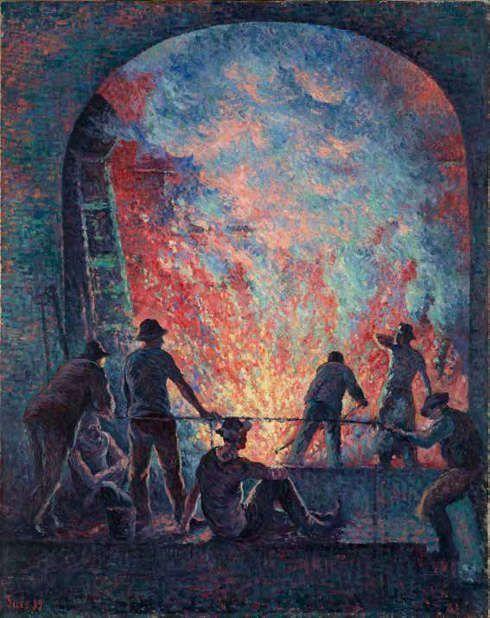 Maximilien Luce, L'Aciérie, 1899, Öl-Lw, 92 x 73,3 cm (Privatsammlung)