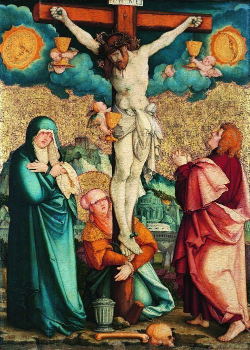 Meister von Meßkirch, Kreuzigung Christi, um 1539 (Schwäbisch Hall, Sammlung Würth, Johanniterkirche, © Sammlung Würth, Foto: Horst Ziegenfusz)
