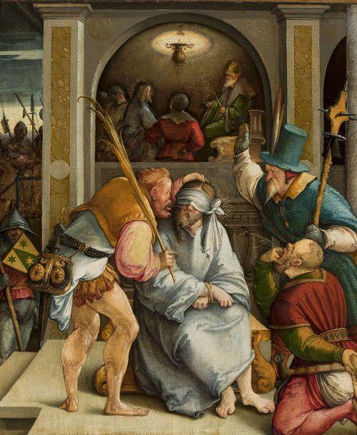 Meister von Meßkirch, Verspottung Christi, um 1535/40 (Warschau, Nationalmuseum © Warschau, Nationalmuseum)