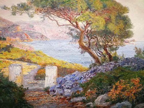 Menci Clement Crnčić, Landschaft im Süden, 1902–1905, Detail (Privatbesitz), Foto: Alexandra Matzner, ARTinWORDS.