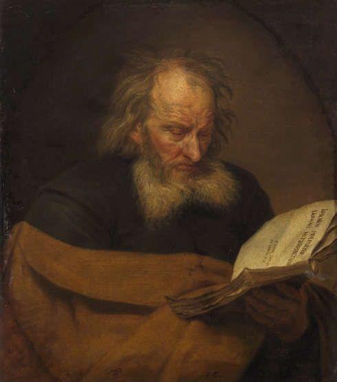 Michaelina Woutier, Hl. Joachim lesend, kurz nach 1650, Öl/Leinwand, 75 × 64 cm (Kunsthistorisches Museum Wien, Gemäldegalerie, Inv. Nr. Gemäldegalerie, 375)