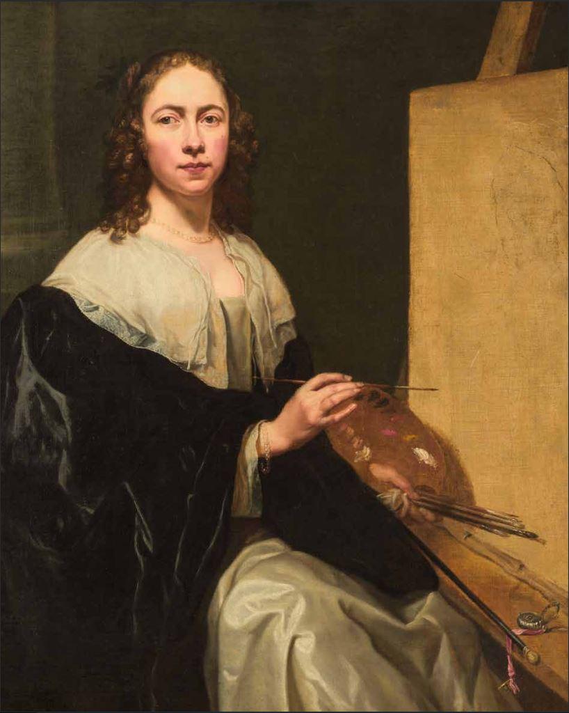 Michaelina Woutier, Selbstporträt vor Staffelei, 1640er (Privatsammlung)