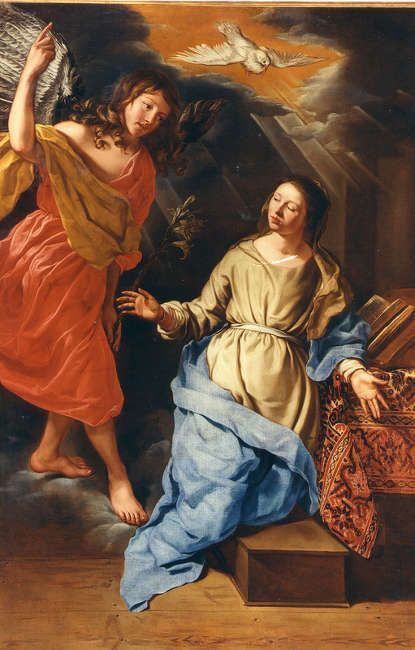 Michaelina Woutier, Verkündigung, 1659 (Musée-promenade de Marly-le-Roi, INv.-Nr. 77.30.1)