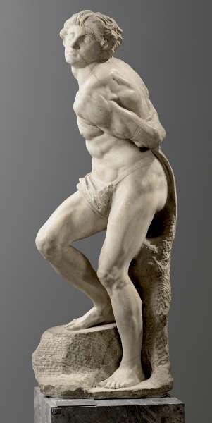 Michelangelo Buonarroti, Rebellierender Sklave (Paris, Musée du Louvre department des Sculptures Musee du Louvre Musee du Louvre, dist RMN Grand Palais Raphael Chipault)
