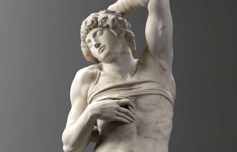 Michelangelo Buonarroti, Sterbender Sklave, Detail (Paris, Musée du Louvre department des Sculptures Musee du Louvre Musee du Louvre, dist RMN Grand Palais Raphael Chipault)