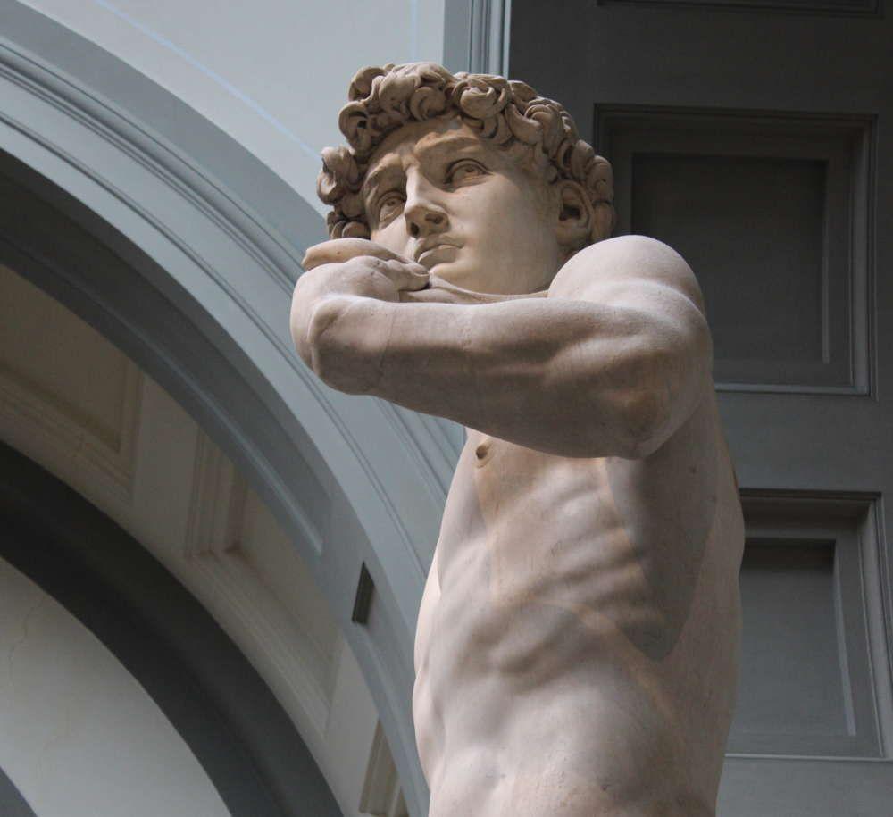 Michelangelo, David, Gesicht (Florenz, Galleria dell'Accademia)