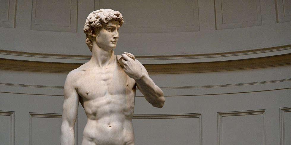 Michelangelo, David, Oberkörper (Florenz, Galleria dell'Accademia)
