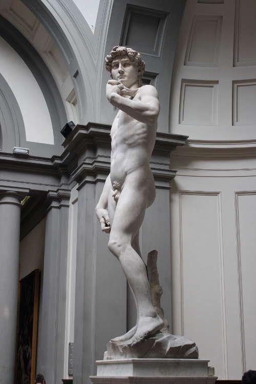 Michelangelo, David von rechts (Florenz, Galleria dell'Accademia)