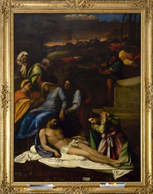 Sebastiano del Piombo, Beweinung Christi, 1516, Öl auf Leinwand, Transfer von Holz, 260 × 193 cm (Eremitage, St Petersburg (GE-18) Photograph © The State Hermitage Museum /Vladimir Terebenin