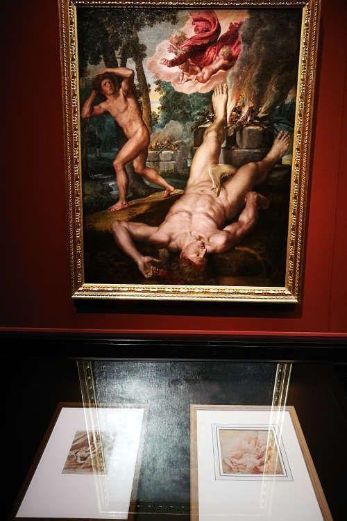 Michiel Coxcie, Der Tod Abels, nach 1539 (Prado), Ausstellungsansicht: Peter Paul Rubens. Kraft der Verwandlung, Foto: Alexandra Matzner, ARTinWORDS.