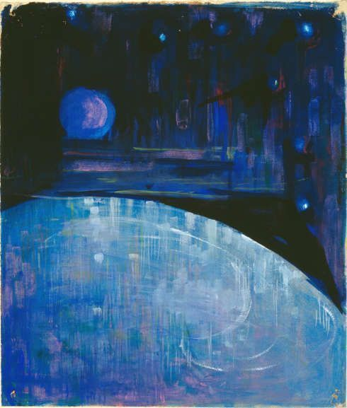 Mikalojus Konstantinas Čiurlionis, Die Erschaffung der Welt III, 190/06, Tempera auf Papier (Kaunas, Musée national des Beaux-Arts M. K. © Photo courtoisie du Musée d'art d'Estonie Čiurlionis)