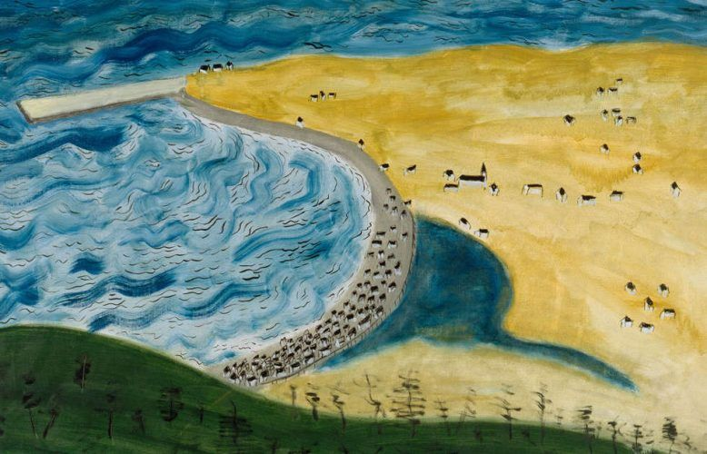 Milton Avery, Little Fox River, Detail, 1942, Öl-Lw, 91.8 x 122.2 cm (Collection Neuberger Museum of Art, Purchase College, State University of New York. Gift of Roy R. Neuberger © 2021 Milton Avery Trust / Artists Rights Society (ARS), New York and DACS, London 2021. Photo: Jim Frank)