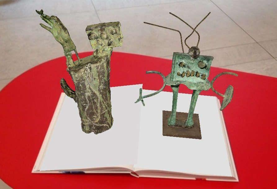 """Miró-App und Ausstellungskatalog in der Personale """"MIRÓ. Welt der Monster"""", Foto: ARTinWORDS, Nora Höglinger."""