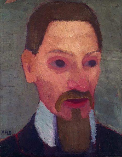 Paula Modersohn-Becker, Bildnis Rainer Maria Rilke, 1906 (Paula-Modersohn-Becker-Stiftung, Bremen Leihgabe aus Privatbesitz)