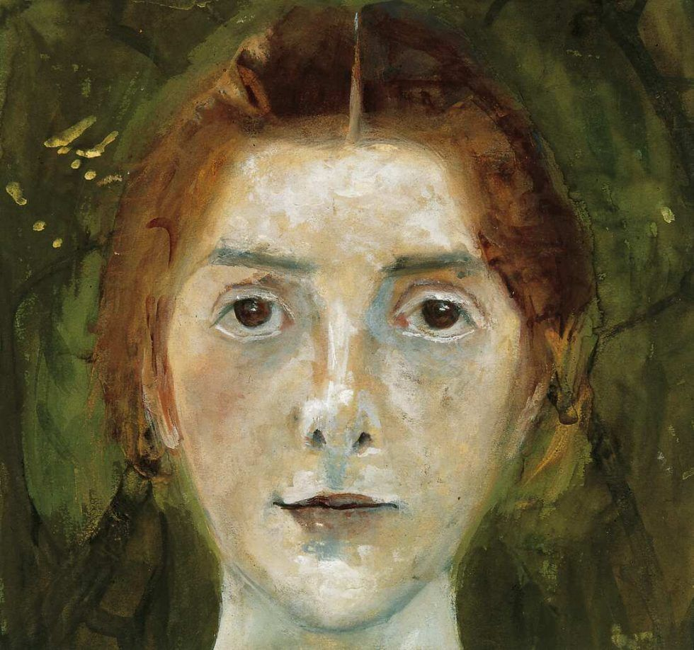 Paula Modersohn-Becker, Selbstbildnis, frontal, 1897 (Paula-Modersohn-Becker-Stiftung, Bremen)