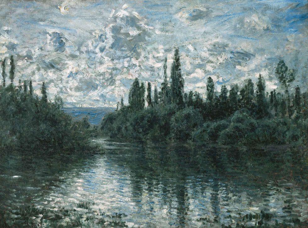 Claude Monet, Arm der Seine bei Vétheuil, 1878, Öl/Lw, 60 x 80 cm (Sammlung Pérez Simón, Mexiko)