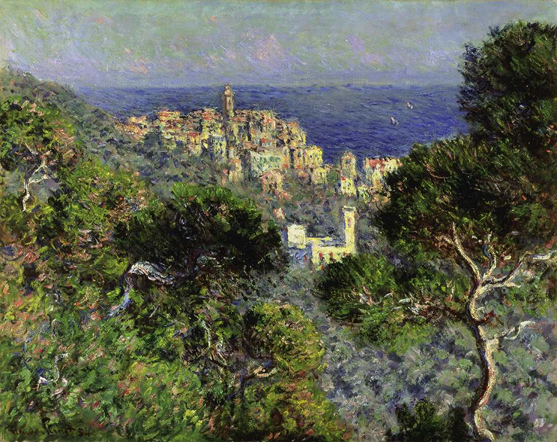 Claude Monet, Vue de Bordighera [Blick auf Bordighera], 1884, Öl auf Leinwand, 66 x 81,8 cm (The Armand Hammer Collection, Schenkung der Armand Hammer Foundation. Hammer Museum, Los Angeles)