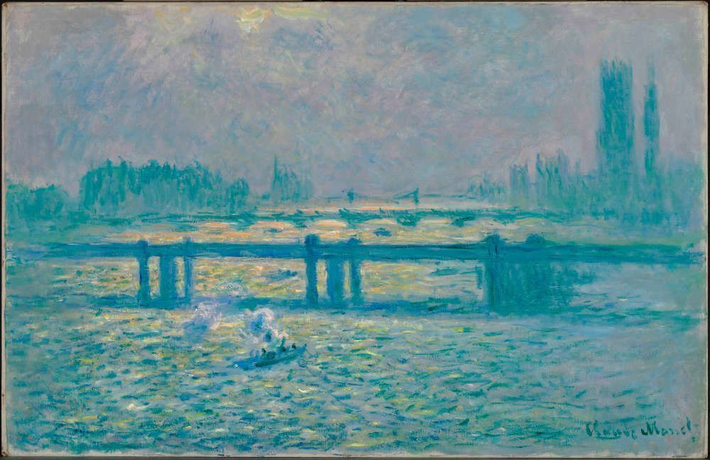 Claude Monet, Charing Cross Bridge, reflets sur la Tamise, 1899-1901, Öl/Lw, 65 × 100 cm (The Baltimore Museum of Art, The Helen and Abram Eisenberg Collection, BMA 1945.94 © The Baltimore Museum of Art / Photography By: Mitro Hood)