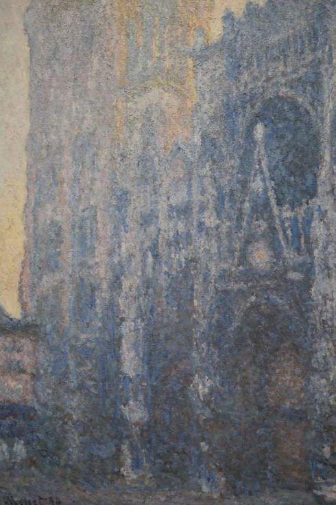 Claude Monet, La Cathédrale de Rouen: le portail, effet du matin [Die Kathedrale von Rouen: das Portal, Morgenstimmung], Detail, 1894, Öl auf Leinwand, 107 x 74 cm (Fondation Beyeler, Riehen/Basel, Foto: Alexandra Matzner, ARTinWORDS)