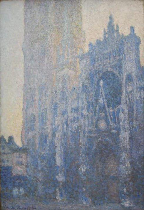 Claude Monet, La Cathédrale de Rouen: le portail, effet du matin [Die Kathedrale von Rouen: das Portal, Morgenstimmung], 1894, Öl auf Leinwand, 107 x 74 cm (Fondation Beyeler, Riehen/Basel, Foto: Alexandra Matzner, ARTinWORDS)