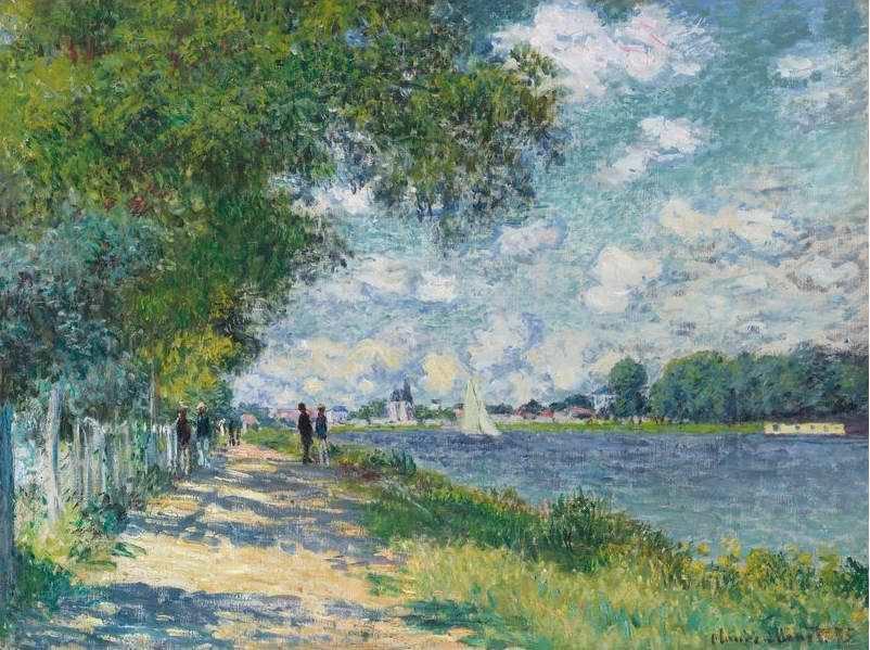 Claude Monet, La Seine à Argenteuil [Die Seine bei Argenteuil], 1875 (aus dem Besitz von Faure, heute: Privatbesitz)