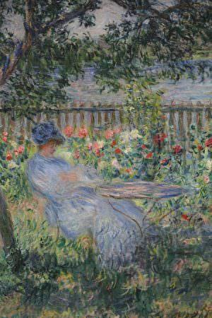 Claude Monet, La Terrasse à Vétheuil [Die Terrasse in Vétheuil], Detail, 1881, Öl auf Leinwand, 81 x 65 cm (Privatsammlung, Foto: Alexandra Matzner, ARTinWORDS)
