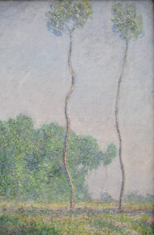 Claude Monet, Prairie à Giverny, effet d'automne [Wiese bei Givery im Herbst], Bäume, 1886, Öl auf Leinwand, 92,1 x 81,6 cm (Museum of Fine Arts, Boston, Juliana Cheney Edwards Collection, Foto: Alexandra Matzner, ARTinWORDS)