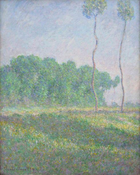 Claude Monet, Paysage de printemps [Frühlingslandschaft], 1894, Öl auf Leinwand, 92 x 73 cm (Privatsammlung, Foto: Alexandra Matzner, ARTinWORDS)