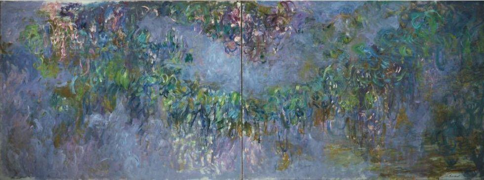 Claude Monet, Glyzinie (1 & 2), 1920, Öl auf Leinwand, je 149,9 x 200,7 (Privatsammlung)