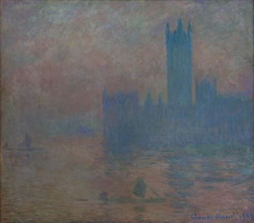 Claude Monet, Houses of Parliament [Parlament], 1903, Öl/Lw, 81 x 92 cm (Musée Malraux)