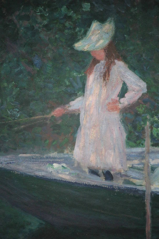 Claude Monet, En Norvégienne [In der Barke], Detail, 1887, Öl auf Leinwand, 97,5 x 130,5 cm (Musée d'Orsay, Paris, Vermächtnis der Princesse Edmond de Polignac, 1947, Foto: Alexandra Matzner, ARTinWORDS)