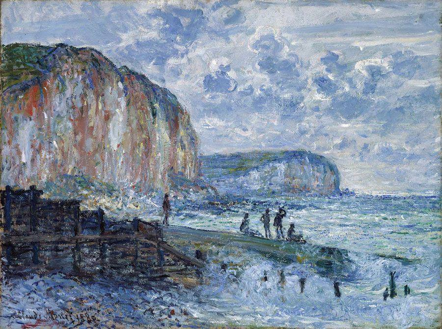 Claude Monet, Klippen der Petites-Dalles, 1880, Öl auf Leinwand, 60,6 x 80,3 cm (Museum of FIne Arts, Boston)