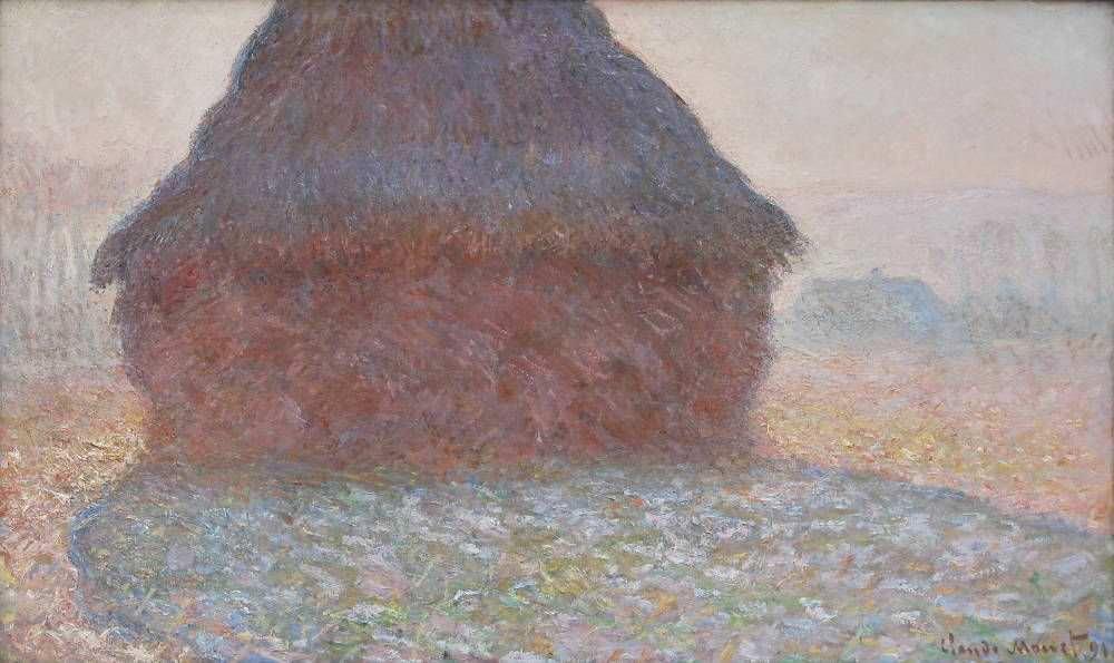 Claude Monet, La meule au soleil [Kornschober im Sonnenlicht], 1891, Öl auf Leinwand, 60 x 100 cm (Kunsthaus Zürich, Zürich, Foto: Alexandra Matzner, ARTinWORDS)