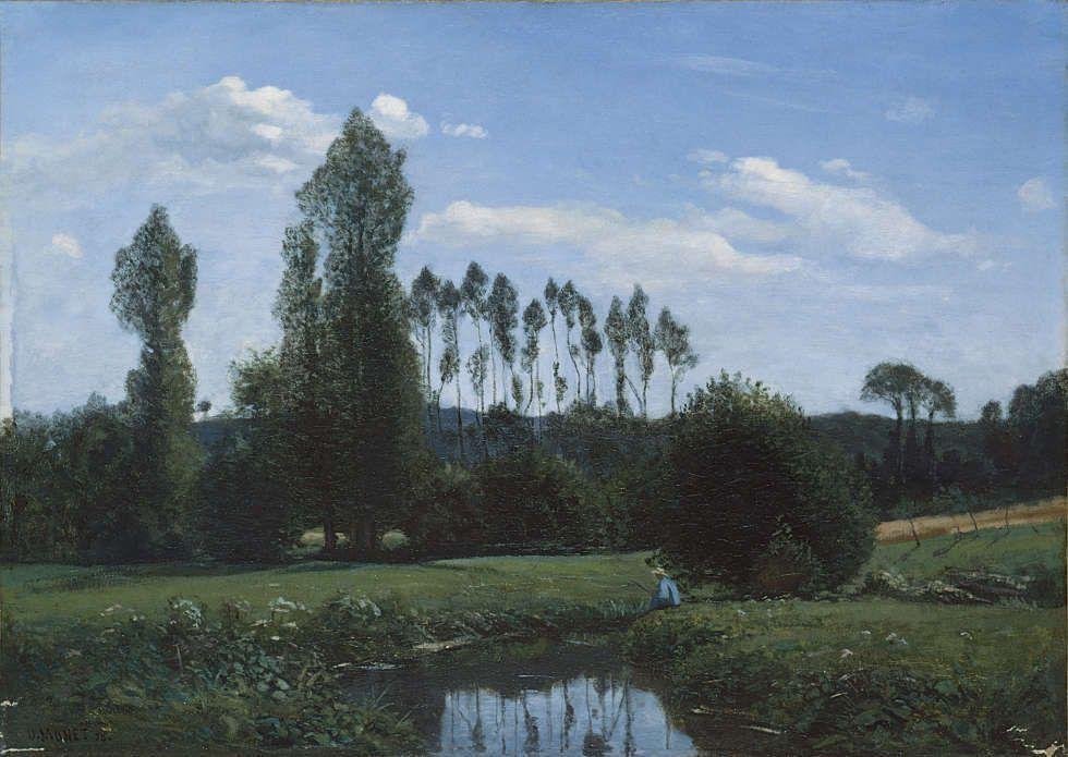 Claude Monet, Landschaft bei Rouelles, 1858, Öl/Lw, 46 x 65 cm (Marunuma Art Park, Asaka, Japan, Foto: detto)