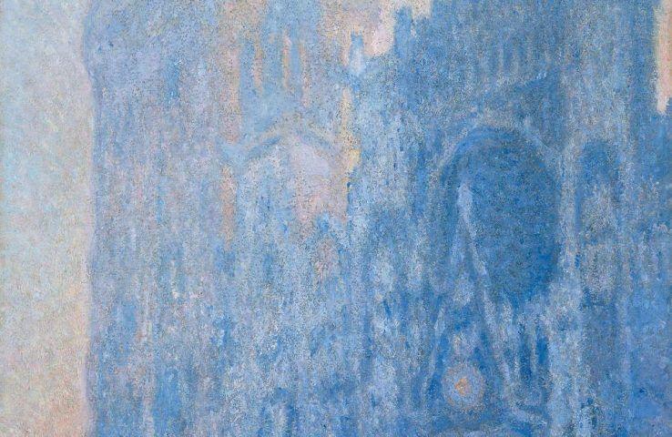 Claude Monet, Le Portail et la tour d'Albane à l'aube, Detail, 1893-4, ÖL/Lw, 106 × 74 cm (© Museum of Fine Arts, Boston, Tompkins Collection - Arthur Gordon Tompkins Fund (24.6)
