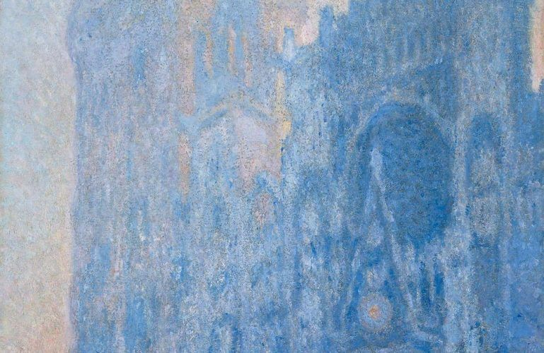 Claude Monet, Le Portail et la tour d'Albane à l'aube, Detail, 1893-4, ÖL/Lw, 106 × 74 cm (© Museum of Fine Arts, Boston, Tompkins Collection - Arthur Gordon Tompkins Fund (24.6)