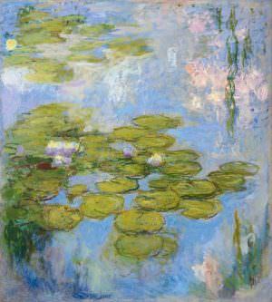 Claude Monet, Nymphéas [Seerosen], 1916–1919, Öl auf Leinwand, 200 x 180 cm (Fondation Beyeler, Riehen/Basel, Sammlung Beyeler, Foto: Robert Bayer)
