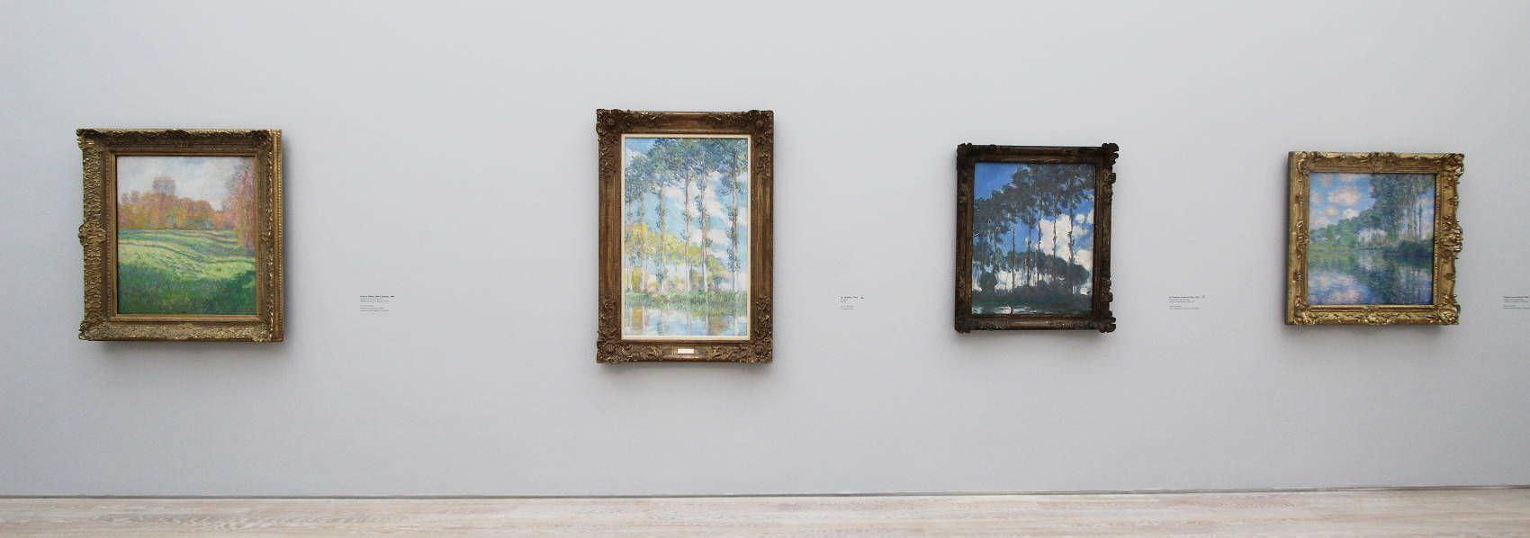 Monet in der Fondation Beyeler (Wiese im Herbst und drei Pappeln), Foto: Alexandra Matzner, ARTinWORDS.