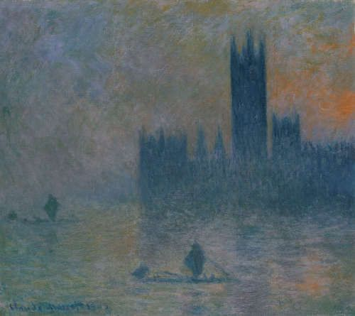 Claude Monet, Houses of Parliament, Fog Effect [Parlament, Nebelstimmung], 1903–1904, Öl/Lw,, 81,3 x 92,4 cm (Metropolitan Museum of Art, New York)