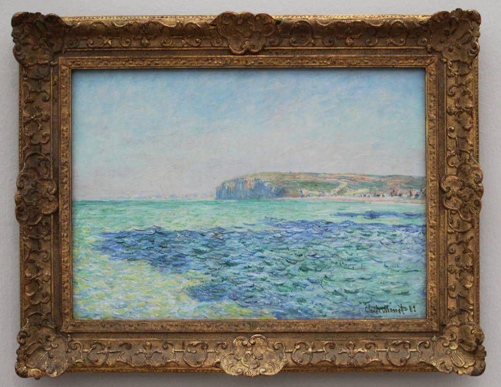 Claude Monet, Ombres sur la mer à Pourville [Schatten auf dem Meer bei Pourville], 1882, Öl auf Leinwand, 57 x 80 cm (Ny Carlsberg Glyptotek, Kopenhagen, Foto: Alexandra Matzner, ARTinWORDS)
