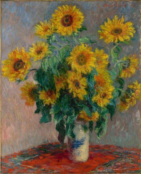 Claude Monet, Sonnenblumen, 1880-1881, Öl auf Leinwand, 101 x 81,3 cm (The Metropolitan Museum of Art, New York)