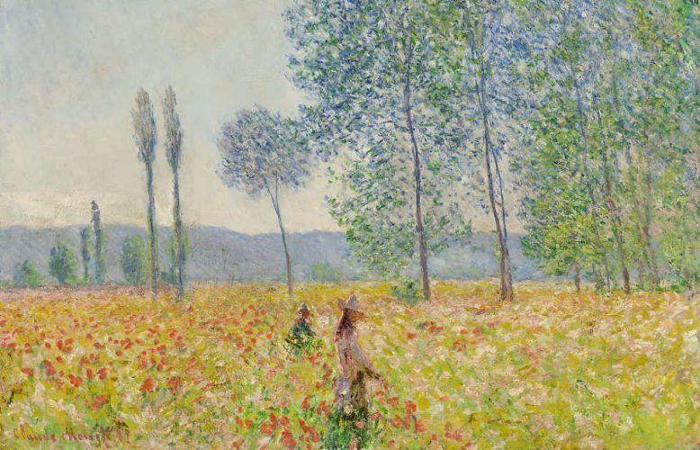 Claude Monet, Unter den Pappeln, Detail, 1887, Öl/Lw, 73 x 92 cm, Wildenstein 1136 (Privatsammlung)