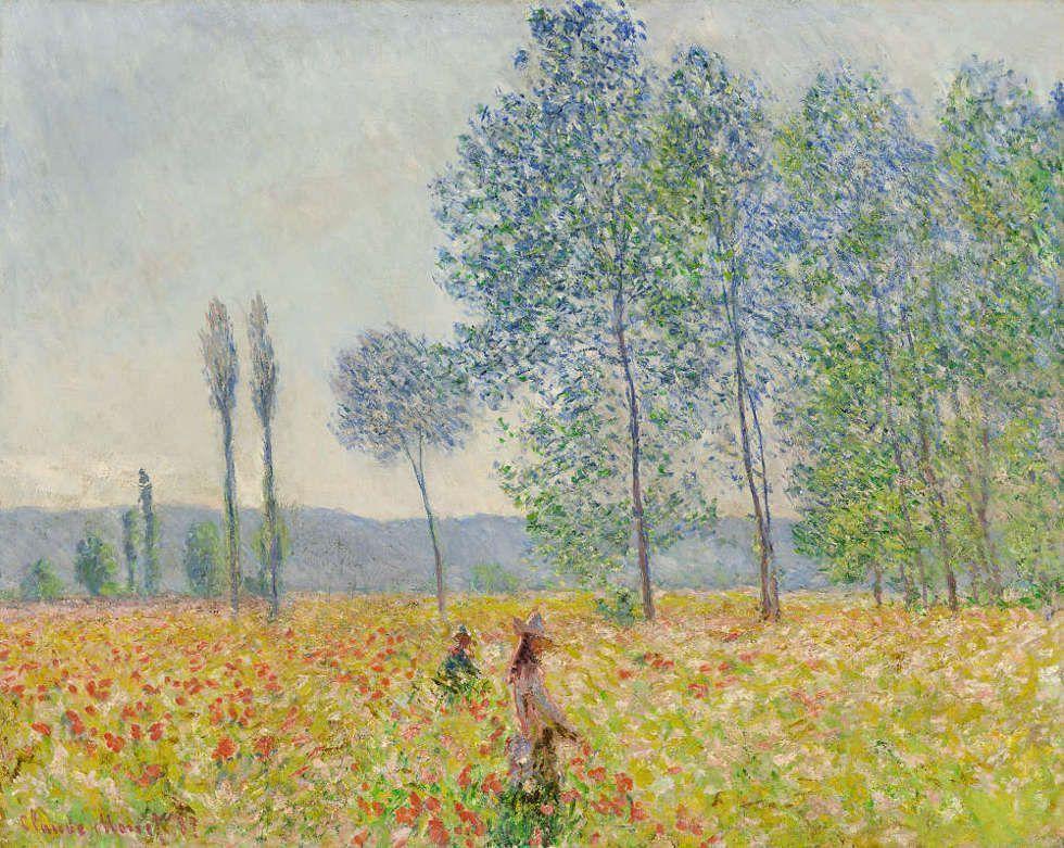 Claude Monet, Unter den Pappeln, 1887, Öl/Lw, 73 x 92 cm, Wildenstein 1136 (Privatsammlung)