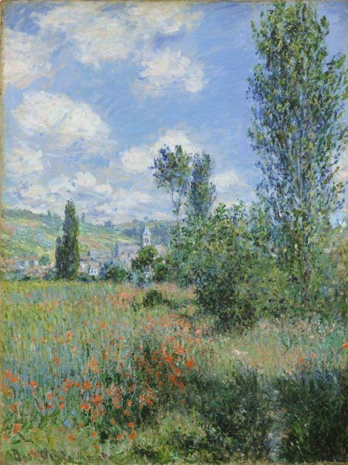 Claude Monet, Vétheuil, 1800, Öl auf Leinwand, 80 x 60,3 cm (The Metropolitan Museum of Art, New York)