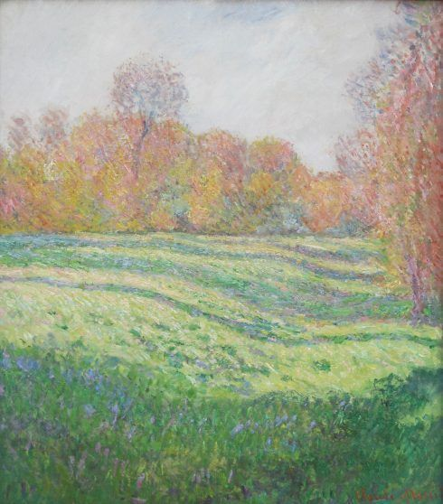 Claude Monet, Prairie à Giverny, effet d'automne [Wiese bei Givery im Herbst], 1886, Öl auf Leinwand, 92,1 x 81,6 cm (Museum of Fine Arts, Boston, Juliana Cheney Edwards Collection, Foto: Alexandra Matzner, ARTinWORDS)