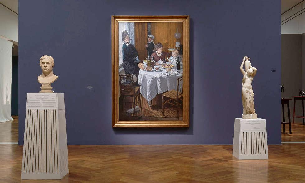 Monet und Ottin, Ausstellungsansicht EN PASSANT. Impressionismus in Skulptur, Foto: Städel Museum / Norbert Miguletz