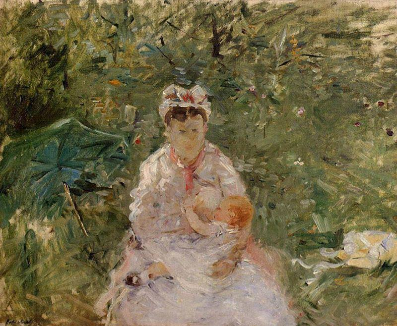 Berthe Morisot, Amme und Baby, 1880, Öl auf Leinwand, 50,2 x 61 cm (Privatsammlung)