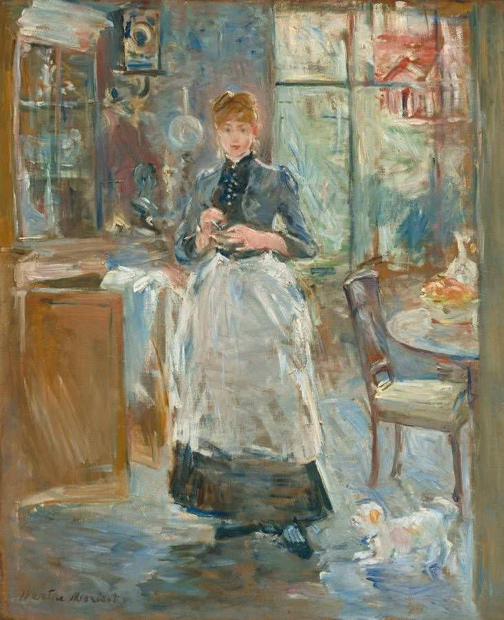 Berthe Morisot, Im Speisezimmer, 1886, Öl auf Leinwand, 61,3 x 50 cm (Washington, Nation Gallery)